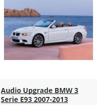 BMW 3 Serie E93 2007-2013